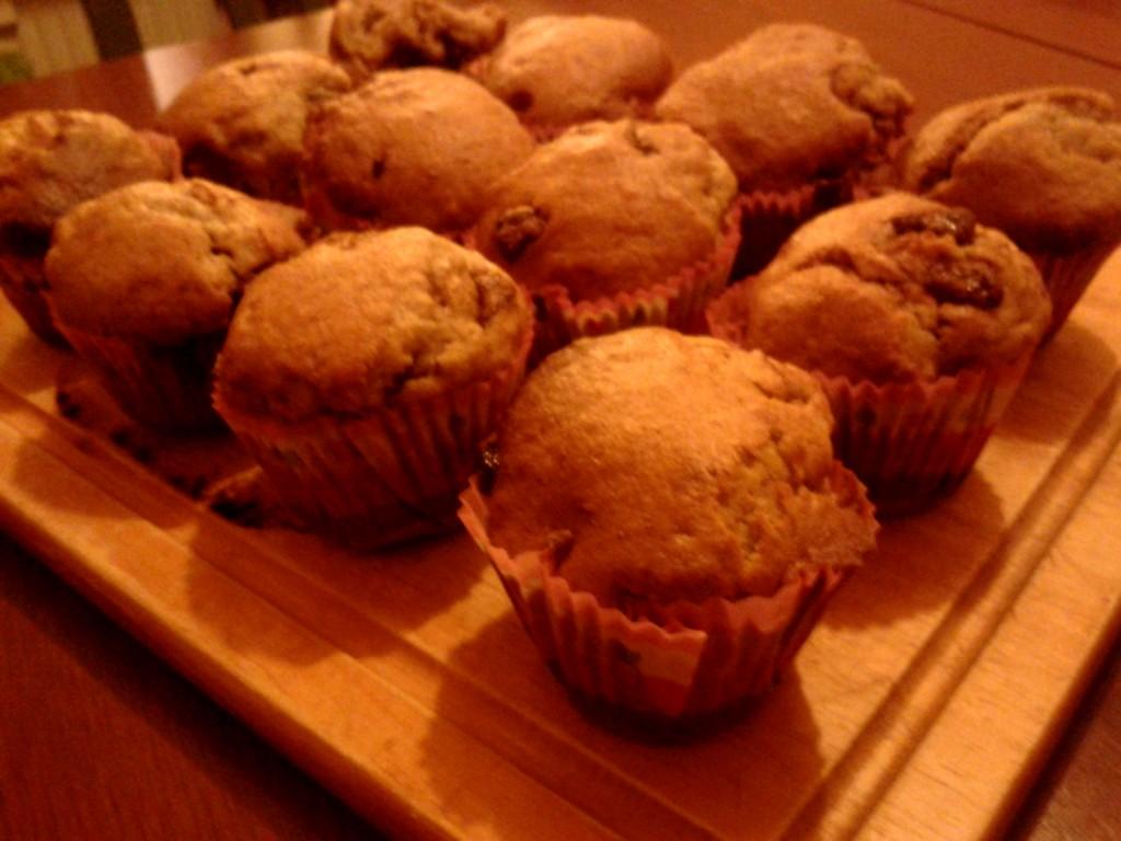 muffiny z bananami i czekoladą nigelli kuchnia poznan